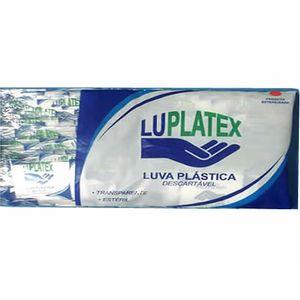 Luva Plástica Descartável Estéril com 100un. Luplatex