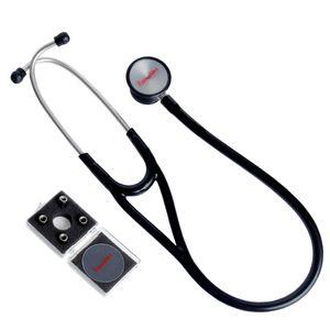 Estetoscópio Cardiológico Preto Premium