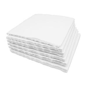 Papel Crepado Branco 20 x 20cm com 500un. Polarfix