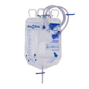 Bolsa Coletora de Urina Bio-Bag Sistema Fechado com Válvula Antirrefluxo e Clamp Deslizante 2L com 1un. Bional