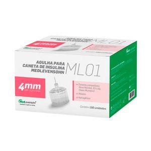 Agulha para Caneta de Insulina 4mm com 100un. Medlevensohn