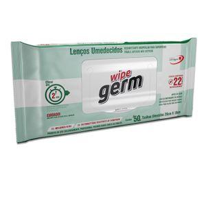 Lenço Umedecido Desinfetante Wipe Germ com 50un.
