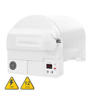 Autoclave ECO Extra Horizontal Câmara em Inox 12L 110V Stermax
