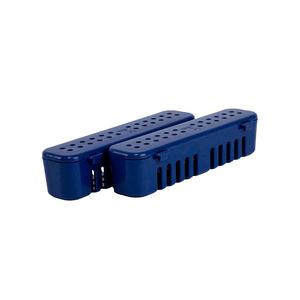 Kit Estojo para Esterilização Plástico Perfurado Pequeno Azul com 2un. Nova OGP