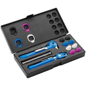 Kit Otoscópio e Oftalmoscópio Pocket Plus LED Set Azul Welch Allyn