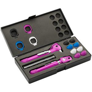 Kit Otoscópio e Oftalmoscópio Pocket Plus LED Set Violeta Welch Allyn